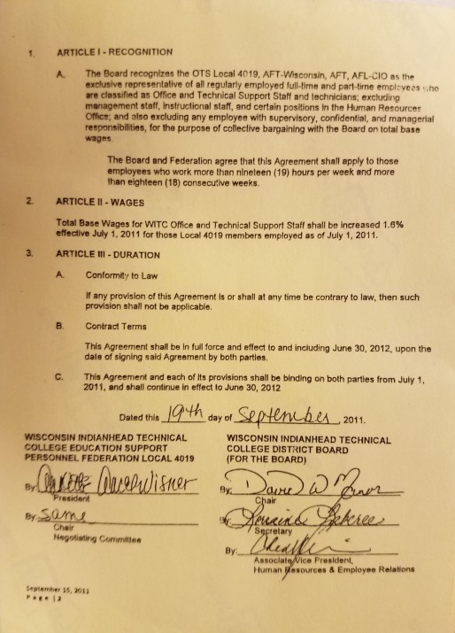 Wisc Contract